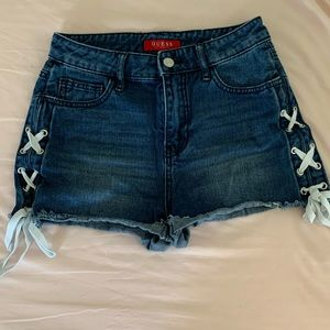 Guess lace up shorts